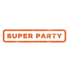 Super party rubber stamp vector