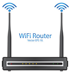 wifi rounter vector image vector image