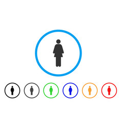 woman rounded icon vector image vector image