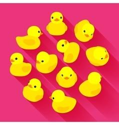 Yellow rubber duck vector