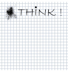 Think message on the paper vector image
