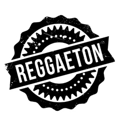 Famous dance style Reggaeton stamp vector image