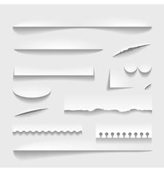 Transparent realistic paper shadow effect set vector image
