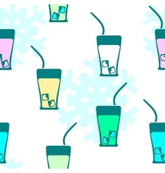 Seamless pattern drink vector
