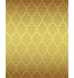 Luxury seamless golden floral wallpaper vector