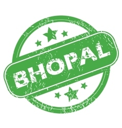 Bhopal green stamp vector
