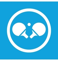 Table tennis sign icon vector