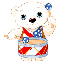 4th of july polar bear vector