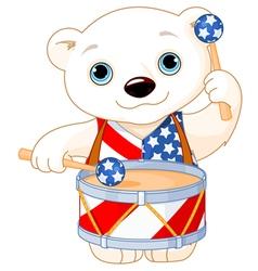 4th of July Polar Bear vector image