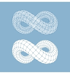 Infinity symbol can be used as design element vector