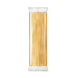 Spaghetti pasta transparent package vector
