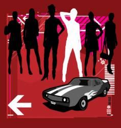 fast women vector image