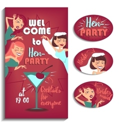 Bachelorette party women vector