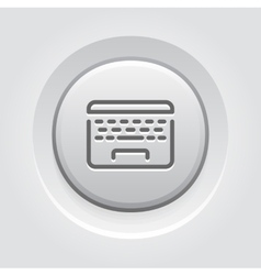 Laptop button icon vector