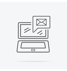 Contact concept message and laptop icon vector