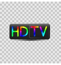 High-definition video sign vector