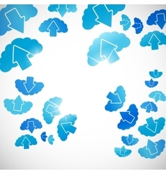 Abstract background cloud vector
