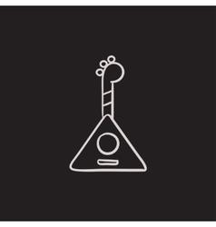 Balalaika sketch icon vector image