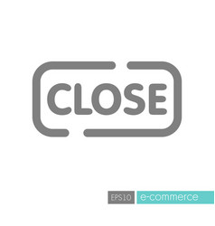 Close sign icon vector