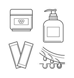 cosmetic equipment for waxing procedure vector image vector image