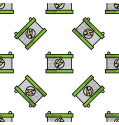 Electric car flat pattern vector image vector image
