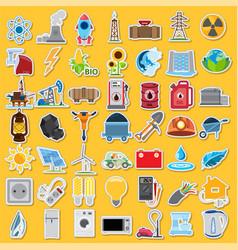 Energetics icons energetics icons set stickers vector
