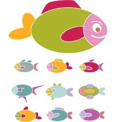 fish signs vector image