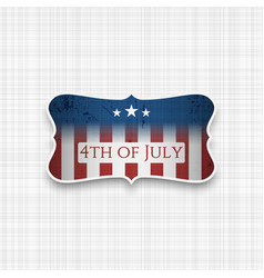 Fourth of july usa national holiday background vector