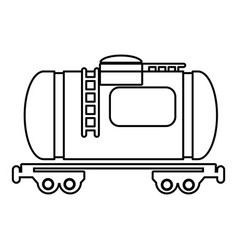 gasoline railroad tanker icon outline style vector image