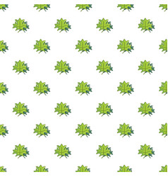 Green maple leaves pattern vector