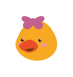 Head little duckling cartoon vector