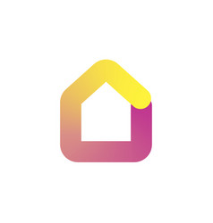 house logo icon in colorful gradient design vector image vector image