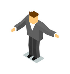 Isometric man in business suit vector