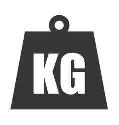 kg weight classic metal vector image vector image