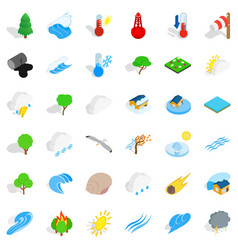 Peaceful place icons set isometric style vector