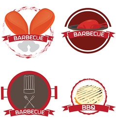 Set of barbecue vector image vector image