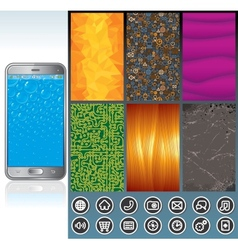 Smart Phone Design Kit vector image vector image