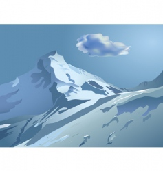 snowy mountains vector image