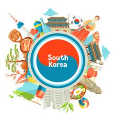 South korea background design korean traditional vector