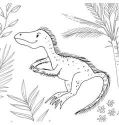 Stylized dinosaur of the middle to late cretaceous vector