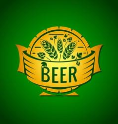 Template beer emblem vector