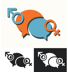 Male female communication vector