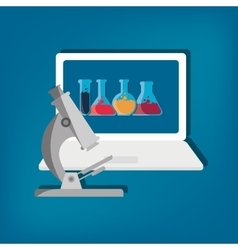 Science technology research vector
