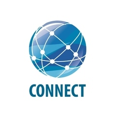 logo connect vector image