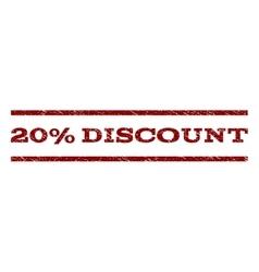 20 percent discount watermark stamp vector