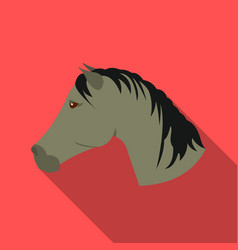 Muzzle horse icon flate singe western icon from vector