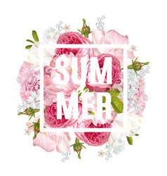 Floral summer banner vector
