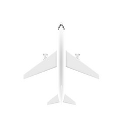 Airplane view from above vector