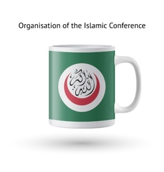 Organisation of islamic conference flag souvenir vector