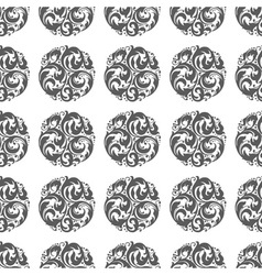 seamless circular ornament vector image